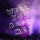 image of marriage proposal  - Poster template for marriage proposal design - JPG