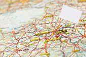 Map Paris With White Flag Pointer