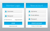 Постер, плакат: Member Login And New Account Website Forms