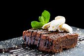 Appetizing Chocolate Brownie.