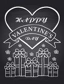 Happy Valentine's Day chalkboard card