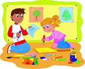 Schoolmates in classroom