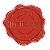 Wax Stamp Important (clipping path included)