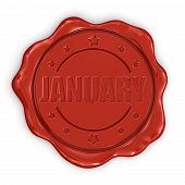 Wax Stamp january (clipping path included)