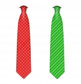 Plaid, checkered silk ties template. Easy editable colors - vector.