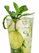 picture of mojito  - Cocktail Mojito isolated on white background - JPG