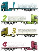 pic of 18 wheeler  - Truck infographics design with various choices and numbers - JPG