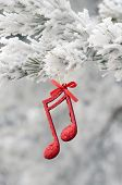 Christmas music note, festive decoration