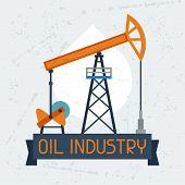 Oil pump jack background.