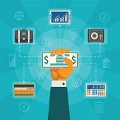 Vector Concept Of Online Banking