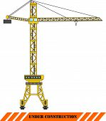 Tower Crane. Heavy Construction Machines. Vector Illustration