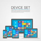 Device Set flat