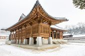 pic of winter palace  - must see beautiful gyeongbok palace in soul south korea  - JPG