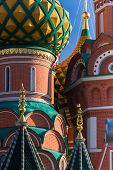 St. Basil's Cathedral In Moscow On A Sunny Day