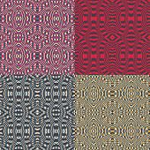 Set of retro abstract seamless patterns.