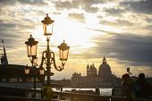 Santa Maria Della Salute At Sunset