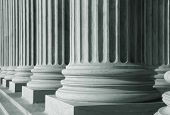 Close up shot of tall pillars