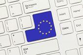 White Conceptual Keyboard - European Union (key With Flag)