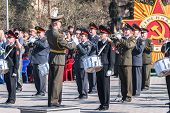 Постер, плакат: Military orchestra on Victory Day parade