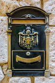 Vintage Metal Mailbox in Mdina, Malta
