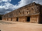 The West Building Of The Women's Monastery In Uxmal, Mexico