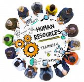 Human Resources Employment Job Teamwork People Technology Concept