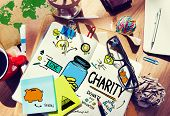 Workplace Table Support Give Help Donate Charity Concept