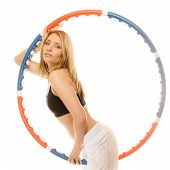 pic of hula hoop  - Sport training gym and lifestyle concept - JPG