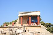picture of minos  - old palace ruins in Knossos on sunny day in summer - JPG
