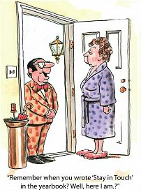 picture of inappropriate  - Cartoon of high school friend at front door early in the morning - JPG