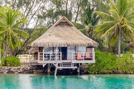 foto of french polynesia  - Overwater Bungalows in Moorea French Polynesia, 2012