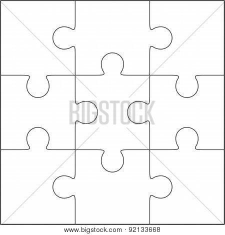 Jigsaw Puzzle Blank Template 3X3 Poster ID:92133668