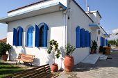 stock photo of lagos  - Pantanassa Orthodox Church Porto Lagos Vistonida Lake Xanthi Prefecture Thrace Greece - JPG