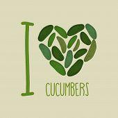 picture of cucumber  - I love cucumbers - JPG