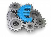stock photo of snatch  - Cogwheel euro - JPG