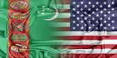 stock photo of turkmenistan  - Relations between two countries - JPG