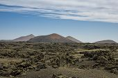 pic of canary-islands  - Volcanic landscape of the island of Lanzarote Canary Islands Spain - JPG