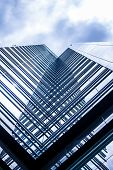 stock photo of high-rise  - High rise buildings bottom up from the inside corner showing interesting pattern - JPG