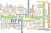 picture of propose  - Background concept wordcloud illustration of request for proposal RFP - JPG