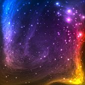 pic of nebula  - Colorful Space Galaxy Background with Light - JPG
