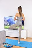 image of training room  - Yoga video class  - JPG