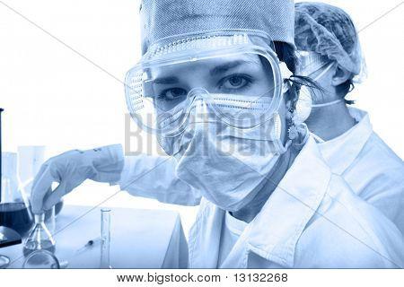 Постер, плакат: Оборудование для медицинской науки Исследование лаборатории Наука тестирование, холст на подрамнике