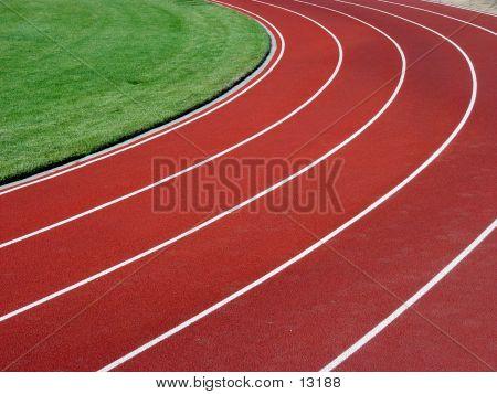 Horizontal Racetrack Background poster