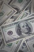 Pile Of Cash - One Hundred Dollar Bill Ben Franklin