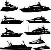 Motor Yacht Collection - Vector