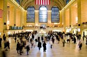 stock photo of hustle  - grand central station in new york city - JPG