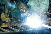 stock photo of mechanical engineer  - An industrial background - JPG