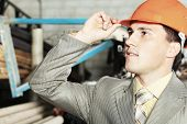 stock photo of blue-collar-worker  - Industrial theme - JPG