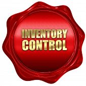 Постер, плакат: inventory control 3D rendering a red wax seal