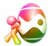 Colorful easter egg icon